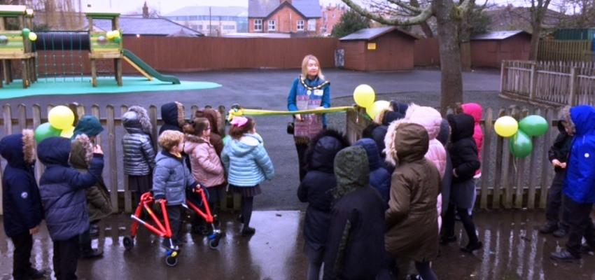 Opening of new playground