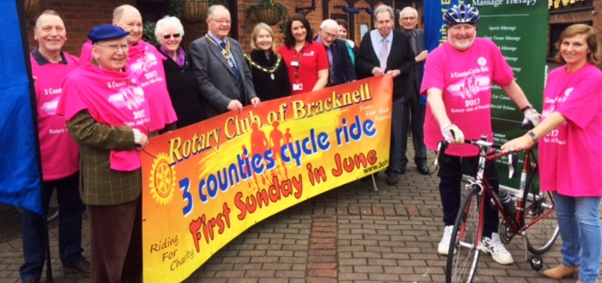 Launch of the Three Counties Cycle Ride