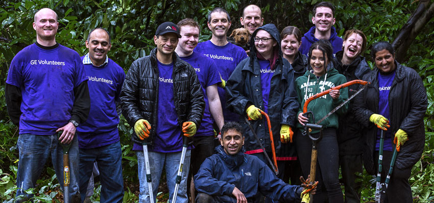 GE Power & Water Volunteers Help at South Hill Park