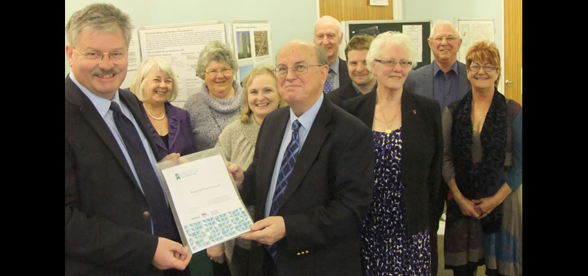 Bracknell Town Council receives a Foundation Level Local Council Award