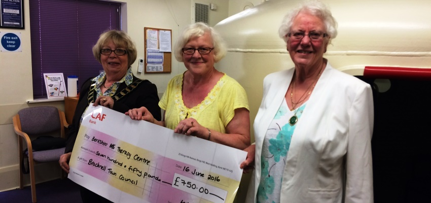 Presentation of Annual Grant to The Berkshire MS Therapy Centre